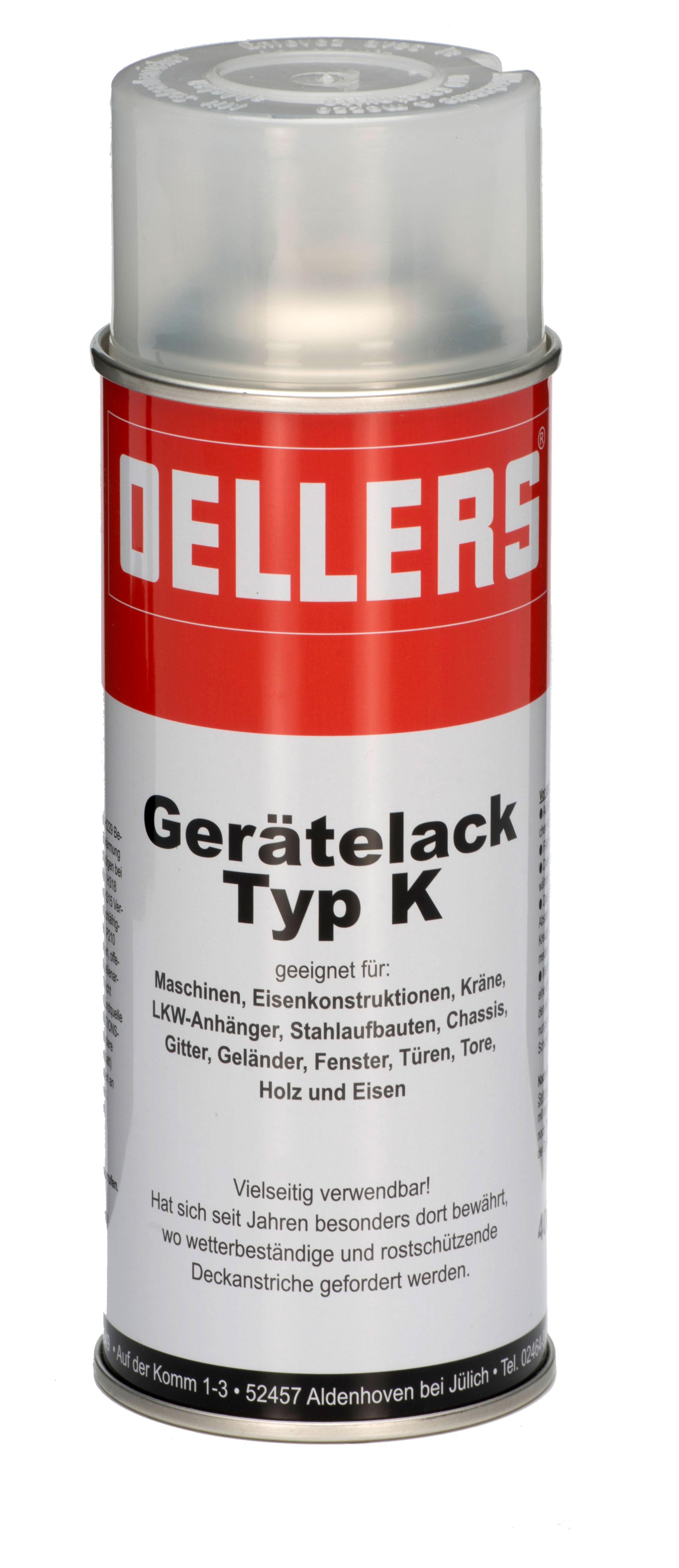 oellers ger telack typ k spraylack hinterl sst auf metall und holz eine licht und. Black Bedroom Furniture Sets. Home Design Ideas